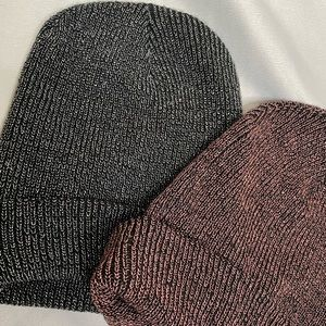 Pair of two American Eagle Beanies